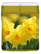 Narcissus Meadows Duvet Cover