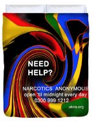Narcotics Anonymous Poster Duvet Cover
