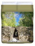 Narrow Passage In Becan, Mexico Duvet Cover