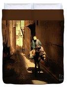 Narrow Streets Fes Male Donkey  Duvet Cover
