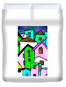 Narrow Village Duvet Cover