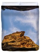 Narrows Sky Zion National Park Utah Duvet Cover