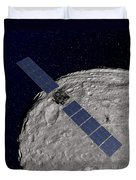 Nasas Dawn Spacecraft Orbiting Duvet Cover