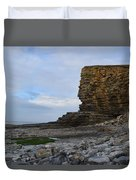 Nash Point In Wales Duvet Cover