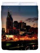 Nashville At Sunset Duvet Cover