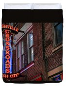 Nashville Crossroads Music City  Duvet Cover
