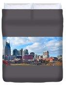 Nashville Panorama View Duvet Cover