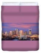 Nashville Skyline At Dusk 2018 Panorama Color Duvet Cover