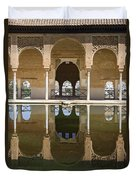 Nasrid Palace Arches Reflection At The Alhambra Granada Duvet Cover