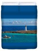 Nassau Harbor Lighthouse Duvet Cover