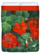Nasturtiums Duvet Cover