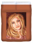 Natalie Self Portrait Duvet Cover