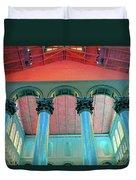 National Columns Blue Duvet Cover