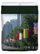 National Flags Of Various Countries Duvet Cover