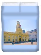 National History Museum On Plaza De Armas In Santiago-chile Duvet Cover