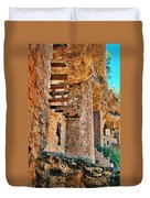Native American Cliff Dwellings Duvet Cover