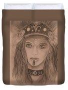 Native American Girl  Duvet Cover