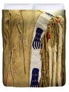 Native American Great Plains Indian Clothing Artwork Vertical 06 Duvet Cover