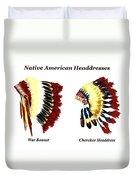 Native American Headdresses Duvet Cover