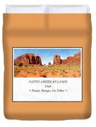 Native American Land, Monument Valley, Navajo Tribal Park Duvet Cover