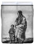 Native American Squaw And Child Duvet Cover