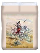 Native American Warrior Duvet Cover