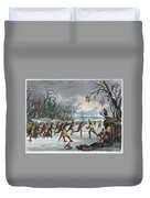 Native Americans: Ball Play, 1855 Duvet Cover