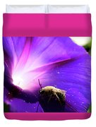 Native Bee On A Purple Flower Duvet Cover