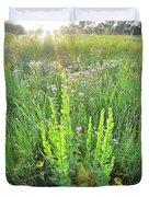 Native Prairie In Moraine Hills State Park Duvet Cover