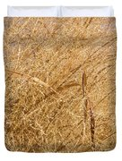 Natural Abstracts - Elaborate Shapes And Patterns In The Golden Grass Duvet Cover