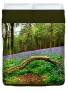 Natural Arch And Bluebells Duvet Cover