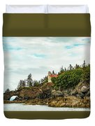Natural Arch At Lighthouse Point Duvet Cover