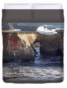 Natural Bridge At Point Arena Duvet Cover