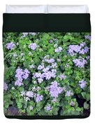 Natural Bush With Purple Small Flowers. Duvet Cover