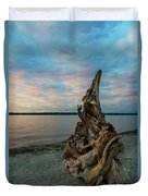 Natural Driftwood At Birch Bay State Park Duvet Cover