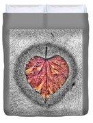 Natural Heart Duvet Cover