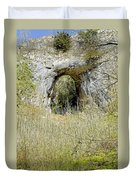 Natural Limestone Arch At Dove Valley Duvet Cover