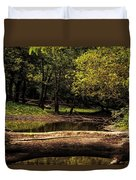 Natural Seating By River Duvet Cover