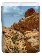 Natural Staircase Valley Of Fire Duvet Cover