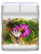 Butterfly In Love Duvet Cover
