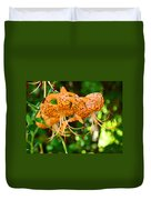 Nature Floral Orange Tiger Lily Flowers Baslee Troutman Duvet Cover