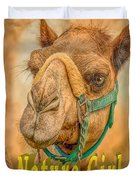 Nature Girl Camel Duvet Cover