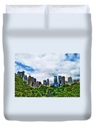 Nature In Metropolis Duvet Cover