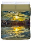 Nature Landscapes Around Lake Wylie South Carolina Duvet Cover