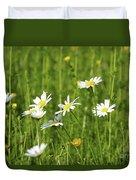 Nature Spring Scene White Wild Flowers Duvet Cover