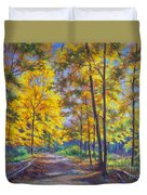 Nature Trail Turn Of Autumn Duvet Cover by Fiona Craig