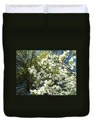 Nature Tree Landscape Art Prints White Dogwood Flowers Duvet Cover