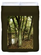 Nature Walk Along The Stream Duvet Cover