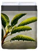 Early Morning Raindrops Duvet Cover