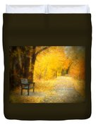 Nature's Golden Corridor Duvet Cover